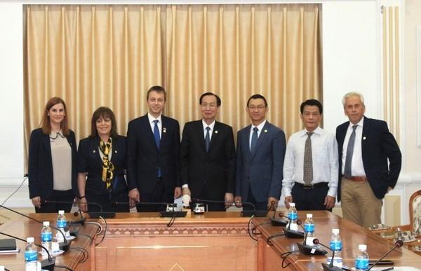 Ciudad Ho Chi Minh y su similar de Edessa de Grecia buscan una mayor cooperacion hinh anh 1