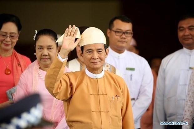 Presidente de Myanmar se compromete a impulsar el desarrollo nacional hinh anh 1