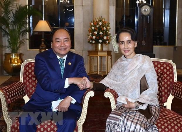 Vietnam y Myanmar, contrapartes de cooperacion en multiples esferas hinh anh 1