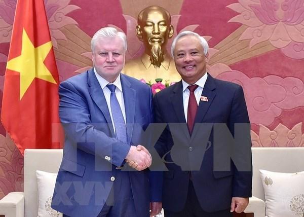Visita Vietnam delegacion del partido Rusia Justa hinh anh 1
