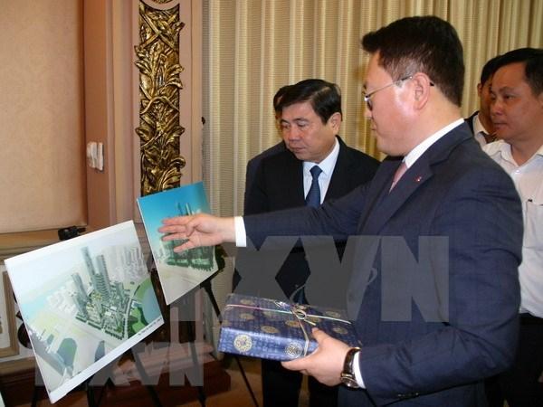 Grupo sudcoreano iniciara proyecto de zona residencial inteligente en Ciudad Ho Chi Minh hinh anh 1