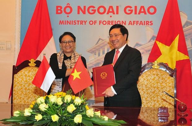Vietnam e Indonesia trazan medidas para profundizar cooperacion bilateral hinh anh 1