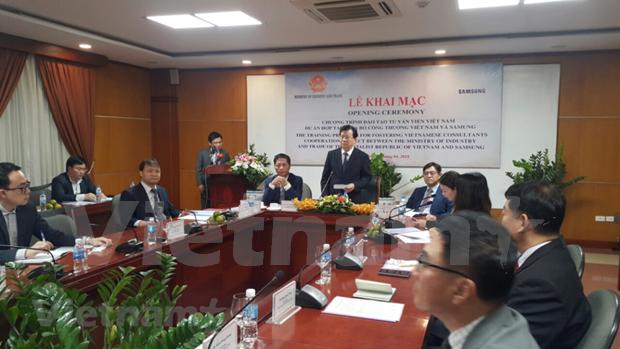 Samsung ayuda a Vietnam en formacion de consultores en industrias auxiliares hinh anh 1