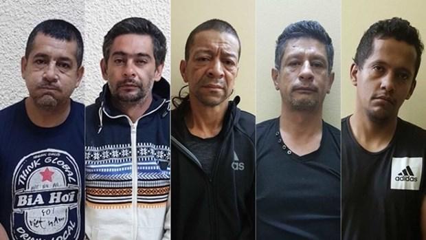Condenados a prision cinco delincuentes de nacionalidad colombiana hinh anh 1