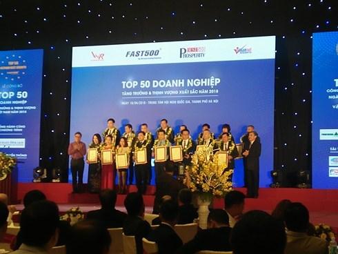 Anuncian las 500 empresas vietnamitas con mayor crecimiento en 2018 hinh anh 1
