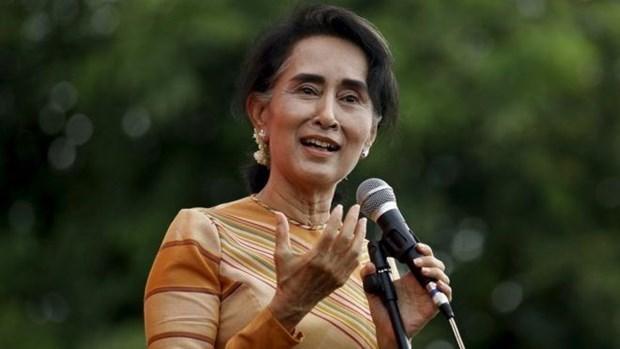 Consejera del Estado de Myanmar comienza visita oficial a Vietnam hinh anh 1