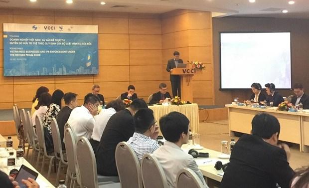 Seminario sobre aplicacion por empresas vietnamitas de los derechos de propiedad intelectual hinh anh 1