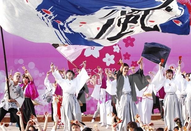 Baile tradicional Yosakoi de Japon amenizara calles de Hanoi hinh anh 1
