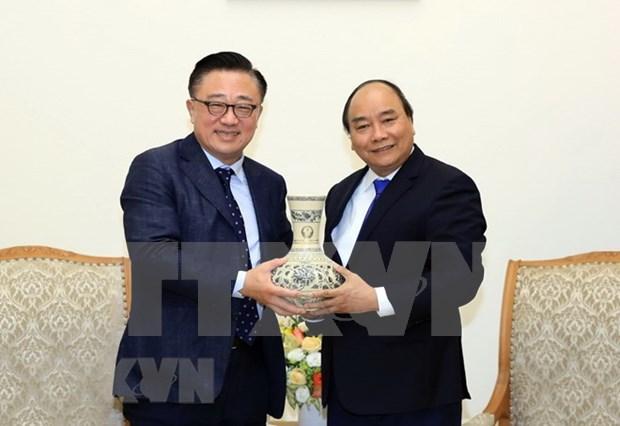 Premier vietnamita propone a Samsung ampliar inversiones a nuevas esferas hinh anh 1