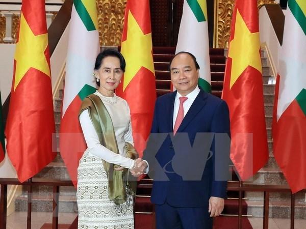 Vietnam y Myanmar emiten declaracion conjunta hinh anh 1