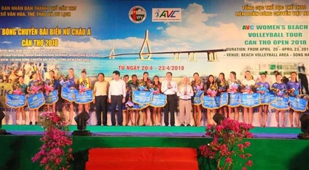 Inician en Vietnam el Torneo femenino asiatico de voleibol de playa 2018 hinh anh 1