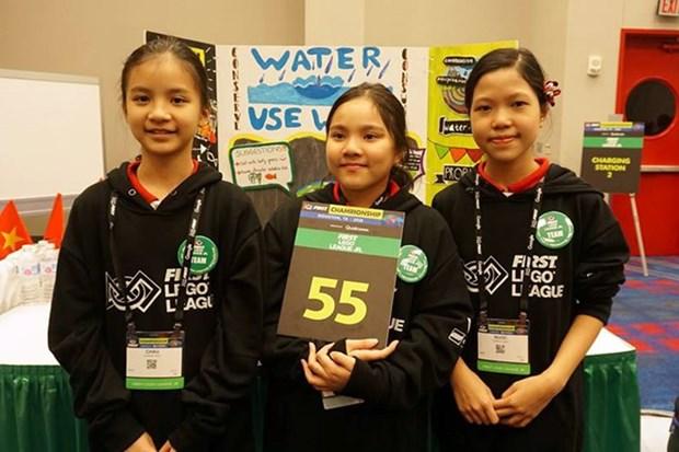 Estudiantes vietnamitas ganan premios en Primera Liga de Lego hinh anh 1