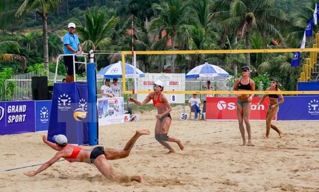 Kazajistan es campeon de Torneo Asiatico de Voleibol de Playa femenina 2018 hinh anh 1
