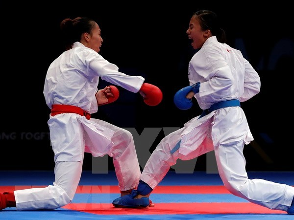 Conquista Vietnam nueve preseas doradas en primer dia del campeonato regional de Karate hinh anh 1