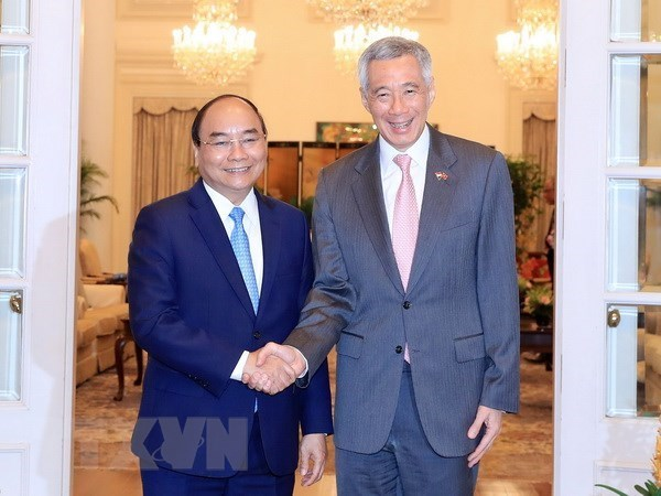 Vietnam y Singapur emiten Declaracion Conjunta hinh anh 1