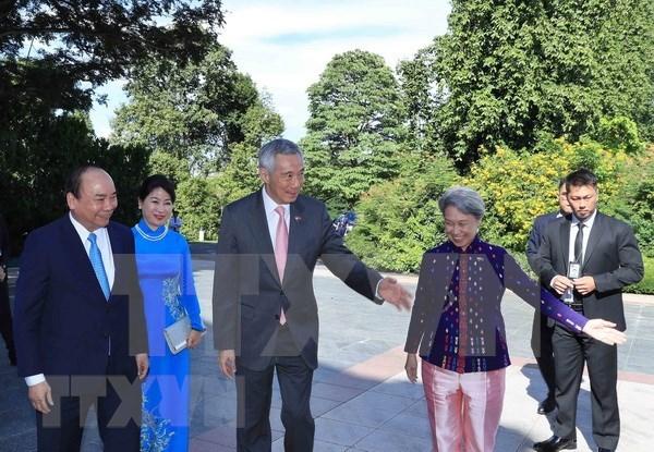 Prensa singapurense destaca visita del Primer Ministro vietnamita hinh anh 1