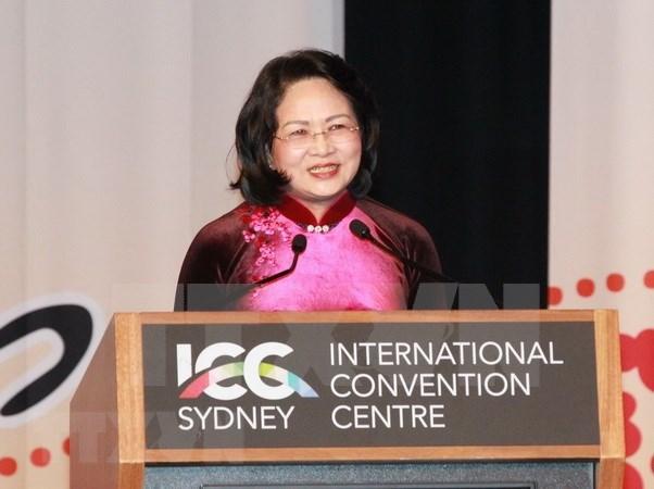 Vicepresidenta vietnamita: Mujeres deben desempena la vanguardia en impulso de conectividad economica hinh anh 1