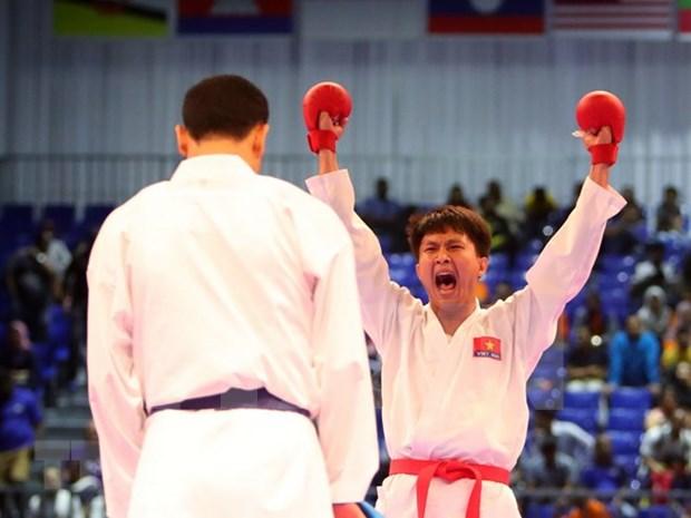 Triunfa Vietnam en Campeonato de Karate del Sudeste Asiatico hinh anh 1