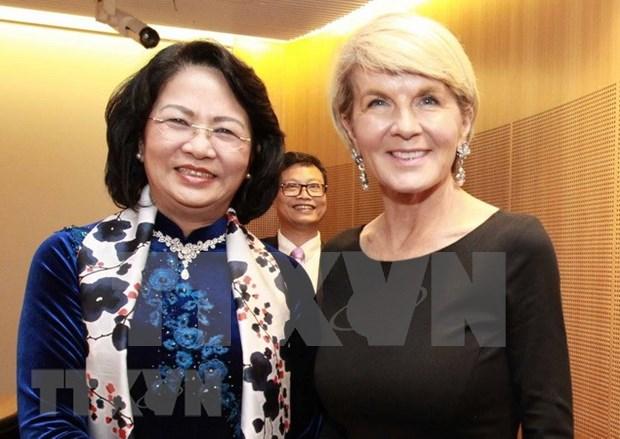 Vietnam aspira a impulsar nexos con Australia, reafirma vicepresidenta Ngoc Thinh hinh anh 1