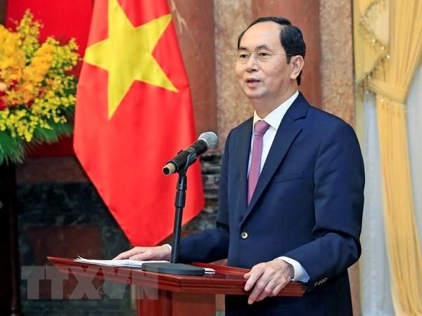Anhelo por la paz es tesoro invaluable del pueblo vietnamita, afirma Presidente hinh anh 1