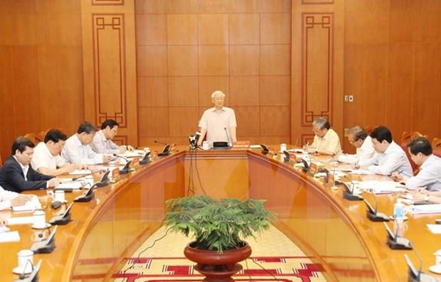 Partido Comunista de Vietnam revisa avance en lucha contra la corrupcion hinh anh 1