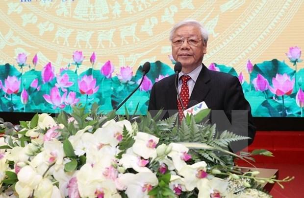 Maximo dirigente partidista de Vietnam llama a elevar competitividad del sector de construccion hinh anh 1
