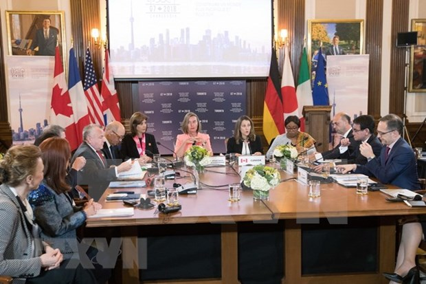 Ministros de G7 emiten comunicado sobre el Mar del Este hinh anh 1