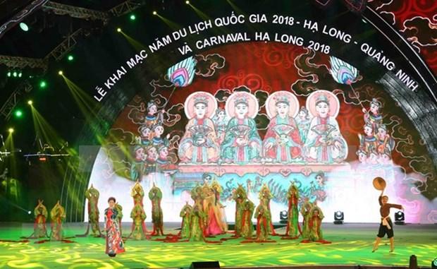 Luces y musicas amenizan ambiente de Ha Long en apertura de Ano del Turismo 2018 de Vietnam hinh anh 1