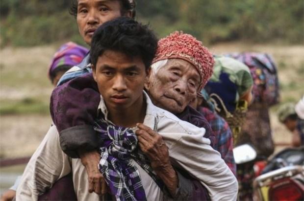 Myanmar: Miles de personas huyen por nuevos conflictos en estado de Kachin hinh anh 1