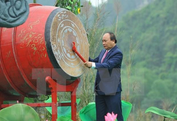 Primer ministro de Vietnam inaugura el festival Trang An 2018 hinh anh 1