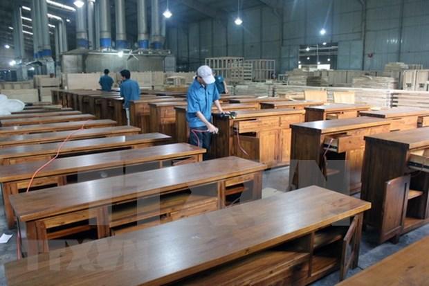 Exportaciones vietnamitas de productos madereros ocupan seis por ciento del mercado mundial hinh anh 1