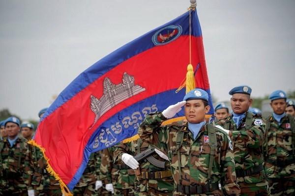 Camboya envia 428 soldados a operaciones de paz de la ONU en Africa hinh anh 1