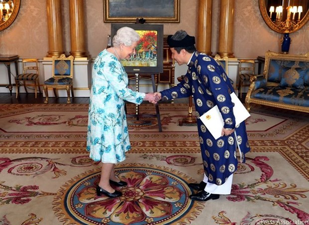 La reina de Inglaterra recibe al embajador vietnamita hinh anh 1