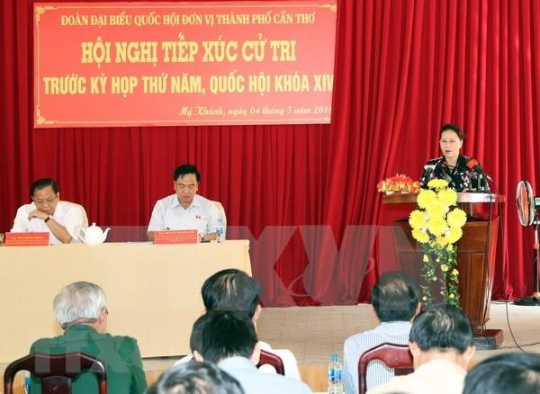 Presidenta parlamentaria vietnamita intercambia con votantes sobre situacion socioeconomica hinh anh 1