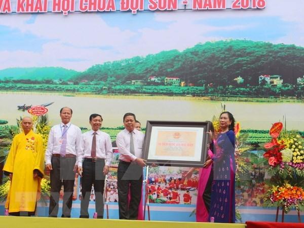 Reconocen pagoda de Doi Son como reliquia nacional especial hinh anh 1