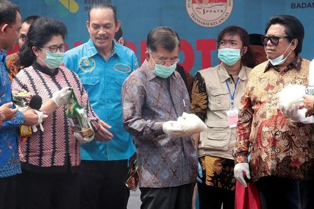Indonesia destruye mas de dos toneladas de metanfetamina de cristal hinh anh 1