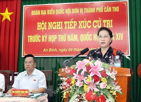 Presidenta parlamentaria de Vietnam dialoga con electorado en ciudad de Can Tho hinh anh 1