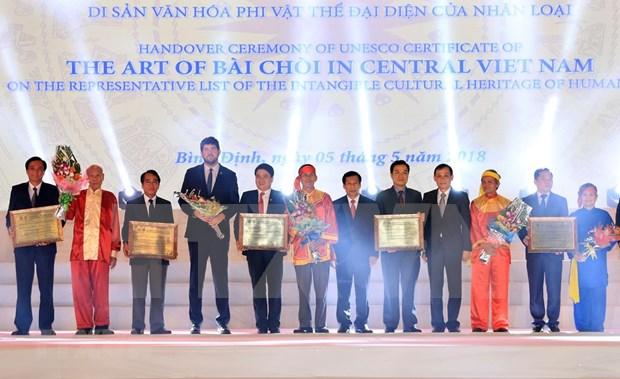 Arte vietnamita de Bai Choi recibe reconocimiento de Patrimonio Cultural Intangible de la Humanidad hinh anh 1