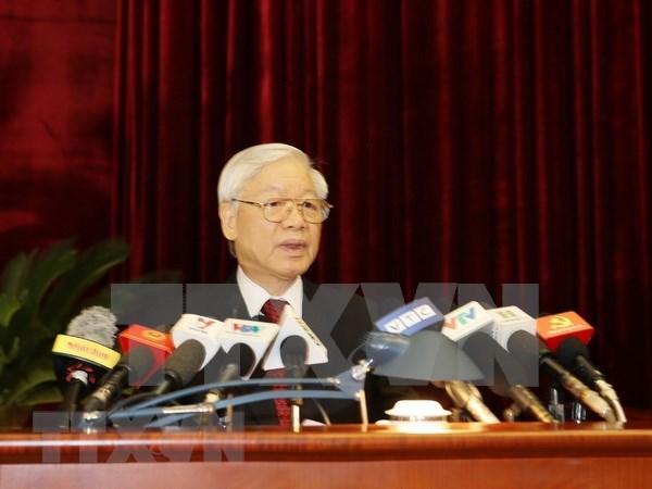 Maximo dirigente partidista de Vietnam destaca importancia de formacion de cuadros hinh anh 1