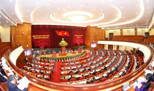 Comite Central del Partido Comunista de Vietnam concluye primera jornada de su VII pleno hinh anh 1