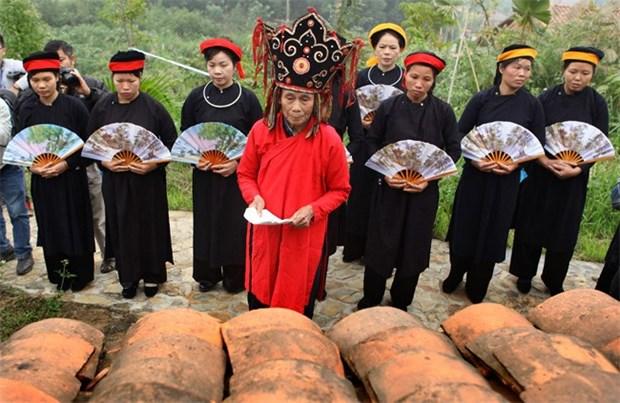 Cao Bang: festival de Nang Hai reconocido Patrimonio Intangible Nacional hinh anh 1