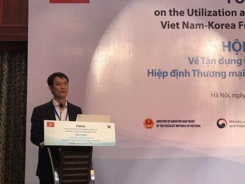 Buscan aprovechar beneficios del Tratado de Libre Comercio Vietnam-Sudcorea hinh anh 1