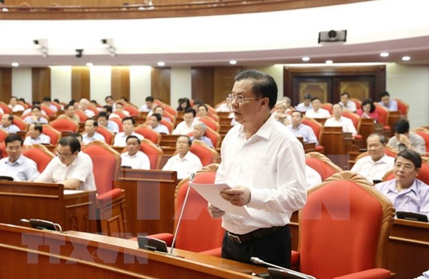Reforma salarial, tema candente en el septimo pleno del Partido Comunista de Vietnam hinh anh 1