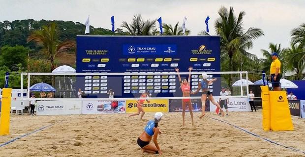 Arranca en Vietnam torneo internacional de voleibol de playa femenino hinh anh 1