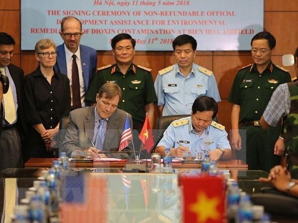 Estados Unidos y Vietnam suscriben acuerdo para descontaminacion de dioxina en el aerodromo Bien Hoa hinh anh 1