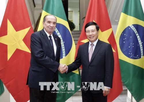 Canciller de Brasil realiza visita a Vietnam hinh anh 1