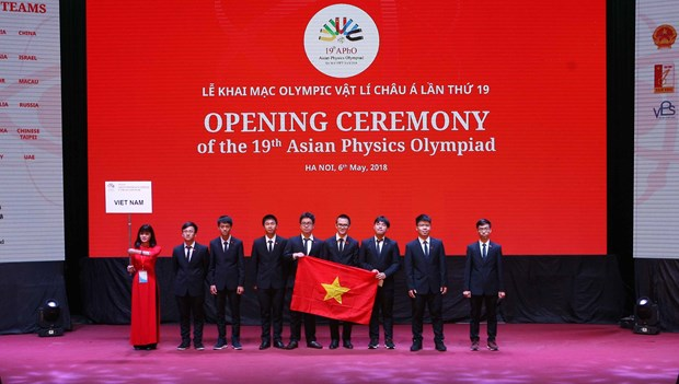 Vietnam gana cuatro medallas de oro en Olimpiada de Fisica de Asia hinh anh 1