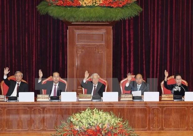 Comite Central del Partido Comunista de Vietnam concluye su VII pleno hinh anh 1