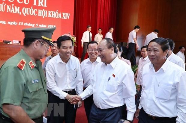 Premier vietnamita dialoga con votantes de ciudad de Hai Phong hinh anh 1