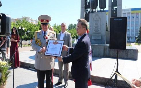 Veteranos vietnamitas y ucranios celebran Dia de la Victoria hinh anh 1